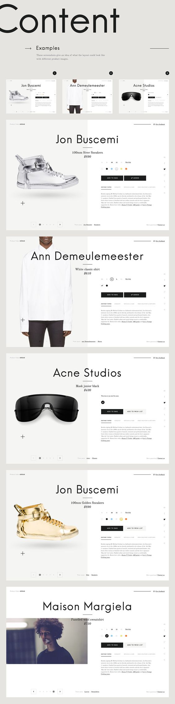 Design inspiration<br> for e-Commerce
