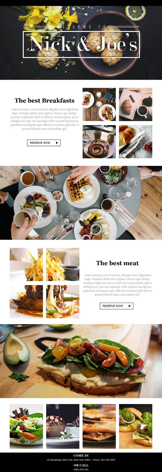 Website Design & Branding<br> for Restaurants
